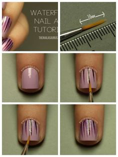 This is one of the easiest nail designs Great Nails, Simple Nails, Love Nails, How To Do Nails, Diy Nail Designs, Nail Polish Designs, Nails Design, Diy Design, Nail Art Diy