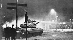 "Tank before busting into the greek University of ""Politexnio"" to supress a student revolt 17 November 1973 509 x 282 Toy Tanks, National Holidays, November 17, Military History, Historical Photos, Athens, Vintage Photos, Greece, University"
