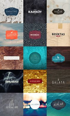 Istanbul Tipografi / Typography by Kutan URAL, via Behance