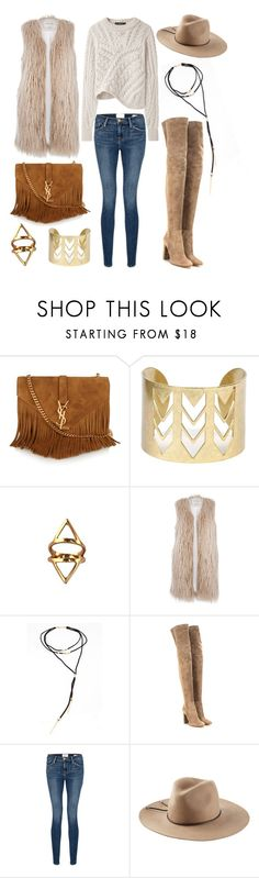 """Accessorize with Jewel Cult - Western Boho"" by jewelcult ❤ liked on Polyvore featuring Yves Saint Laurent, River Island, Bølo, Gianvito Rossi, Isabel Marant, Frame Denim, Emilio Pucci, women's clothing, women and female"