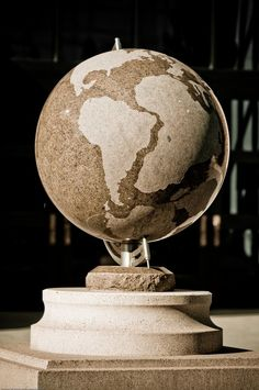 Stone globe at Colorado University.