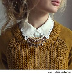 Beautiful accessories for a simple sweater