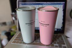 lucky Day. Bought them in Canary Wharf  Store today.  #canarywharf #starbucks #starbuckslover #starbucksmug #mug #pink #blue #beautiful by guizhongzhong