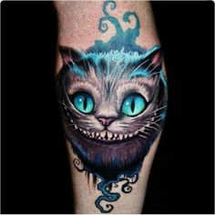 What does alice in wonderland tattoo mean? We have alice in wonderland tattoo ideas, designs, symbolism and we explain the meaning behind the tattoo. Disney Tattoos, Cartoon Tattoos, Kunst Tattoos, Body Art Tattoos, Sleeve Tattoos, Cat Tattoos, Dark Tattoo, I Tattoo, Alice Tattoo