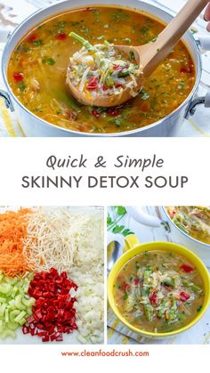 Sugar Detox Recipes, Clean Recipes, Cooking Recipes, Healthy Recipes, Clean Foods, Quick Soup Recipes, Detox Diet Recipes, Clean Lunches, Clean Dinners