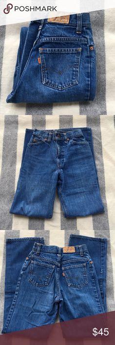 Levi's Jeans Vintage Levi's. Some wear & tear, minor stains. classic straight silhouette. Talon Zipper. Hole (see picture) ask me about Measurements. Levi's Jeans Straight Leg