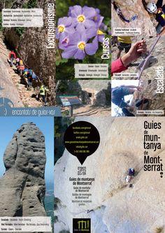 Tríptic Guies de Muntanya de Montserrat #excursionisme #escalada #ferrades #canals #hiking #climbing #ferrata #drycanyoning