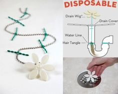 UOH MY coolest product ever! You will never have to touch hair in your drain ever again. Pretty cheap, too. Stocking stuffer for my hubby? Unclog Shower Drains, Clean Shower Drain, Clogged Drains, Gadgets And Gizmos, Cool Gadgets, I Cool, Cool Stuff, Clean Freak, Home Repair