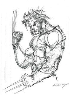 Wolverine sketch - Ron Garney