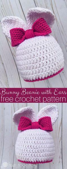 Bunny Hat With Ears Free Crochet Pattern