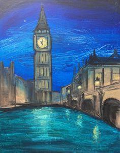 Big Ben Paint And Sip, Big Ben, Paintings, Studio, Building, Travel, Viajes, Paint, Painting Art