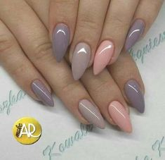 27 Breathtaking Designs for Almond Shape Nails - Nails - Nageldesign Love Nails, How To Do Nails, My Nails, Classy Nail Designs, Nail Art Designs, Uñas Fashion, Almond Shape Nails, Almond Acrylic Nails, Super Nails