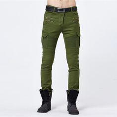28.88$  Buy here - https://alitems.com/g/1e8d114494b01f4c715516525dc3e8/?i=5&ulp=https%3A%2F%2Fwww.aliexpress.com%2Fitem%2F2016-Mens-Army-Green-Biker-Jeans-Elastic-Slim-Skinny-Pencil-Jeans-Black-Military-Runway-Pants-For%2F32754208070.html - 2016 Mens Army Green Biker Jeans Elastic Slim Skinny Pencil Jeans Black Military Runway Pants For Male