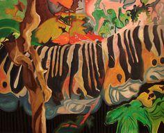 """""""Unica salida en un mundo que no está""""  oil on canvas, 170x140cm, 2011"""