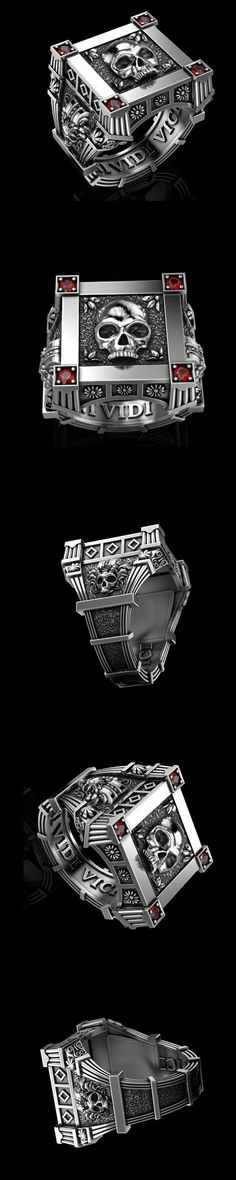 Stainless Steel Fashion black Rhinestone Ring for Men's ring jewelry,Gold silver – Jewelry & Gifts Skull Jewelry, Silver Jewelry, Jewelry Rings, Gifts For Women, Gifts For Her, Mens Skull Rings, Unusual Rings, Buy Rings, Biker Rings