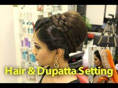 ▶ Indian, Pakistani, Asian Bridal Hair Style | Tikka & Dupatta Setting Tutorial | Wedding Hairstyles - YouTube