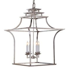 Check out this item at One Kings Lane! Brighton Pagoda Lantern, Silver Leaf