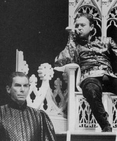 "1986 - ""Richard II"" Richard Easton as Northumberland and Michael Kitchen as Bolingbroke                    Photograph by Donald Cooper"