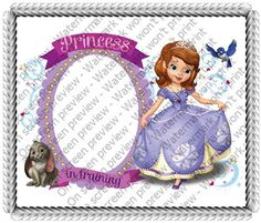 Sheet Cake 8 X5  Princess Sofia Edible Image Photo Frame cakepins.com