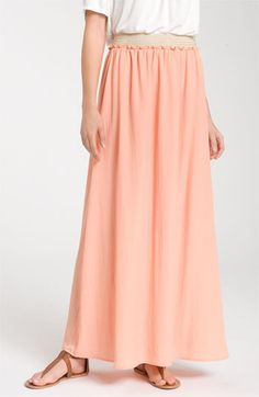 Pleated maxi skirt look #4 - Collective Concepts Crochet Waist Maxi Skirt available at Nordstrom