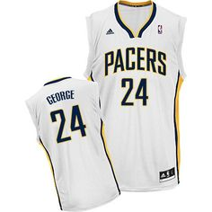 Paul George jersey-Buy 100% official Adidas Paul George Men s Swingman  White Jersey NBA Indiana Pacers  24 Home Free Shipping. f040e4456