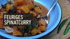 Feuriges Spinatcurry – Paleo360.de Curry, Vegan Recipes, Paleo Vegan, Fruit Salad, Clean Eating, Potato Salad, Veggies, Low Carb, Meat