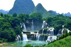 Detian Waterfall, Chongzuo, Guangxi, China China / Vietnam border
