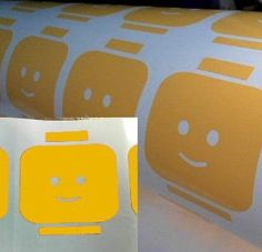 Custom 3'' Yellow Lego Head Vinyl Decal by PassionDesignsInc, $2.99