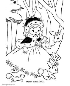 Merry Christmas - Free kids printable Christmas coloring pages!