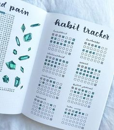art ideas The best way to change a habit is to track your habits! This can be easily done with a habit tracker in your bullet journal. Find 15 gorgeous Habit Tracker Bullet Journal Ideas to finally break your bad habits! Bullet Journal Tracker, Bullet Journal Inspo, Bullet Journal Lettering, Bullet Journal Planner, Bullet Journal Aesthetic, Bullet Journal Spread, Diary Planner, Bullet Journal Timetable, Bullet Journal Doodles Ideas