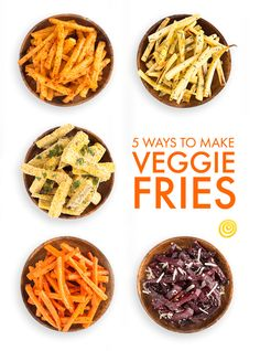 Oven-Baked Veggie Fries, 5 Ways — Recipe Templates from The...