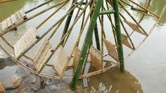 Image result for water wheel in bamboo