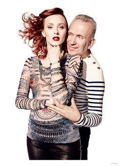 Karen Elson - Lindex - Jean Paul Gaultier for Lindex F/W 2014