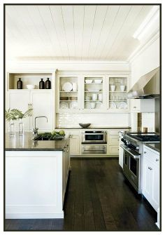 love this kitchen, pulled from content in a cottage a lovely blog!