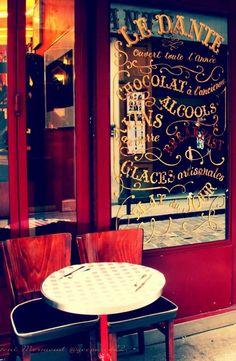 """audreylovesparis: """"Café le Dante, Paris """""""