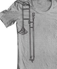 SLIDE TROMBONE INSTRUMENT t shirt Brass Section Music Lessons Teaching Music - http://musical-instruments.goshoppins.com/brass-instruments/slide-trombone-instrument-t-shirt-brass-section-music-lessons-teaching-music/