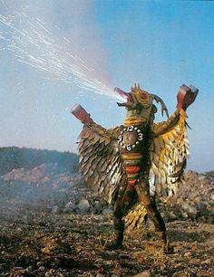 "The kaiju eiga (literally ""monster movie"" in Japanese) was born in 1954 with Ishiro Honda's landmark masterpiece Godzilla. Its immense international success… Sea Of Monsters, Scary Monsters, Japanese Monster, Monster Design, Horror Films, Vintage Japanese, Belle Photo, Character Design, Lion Sculpture"