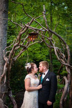 Outdoor Weddings: Sarah & Clinton | Black Mountain Sanctuary, NC • DIY Weddings Magazine