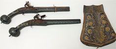 Flintlock pistols with the original holster (kuberluk). The Balkans, the beginning of the 19th century.