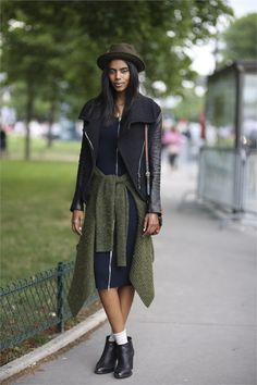 #GraceMahary #offduty during Paris #Couture week. #fashion #moda #streetstyle