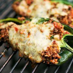 Girlled Chorizo Stuffed Poblano Peppers. Mmmm looks so good!! Ziplist-Joshua Bousel-Serious Eats a Food Blog