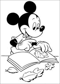 Disegni da colorare per bambini. Colorare e stampa Topolino 15