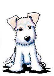 Art: Wire Fox Terrier by Artist KiniArt