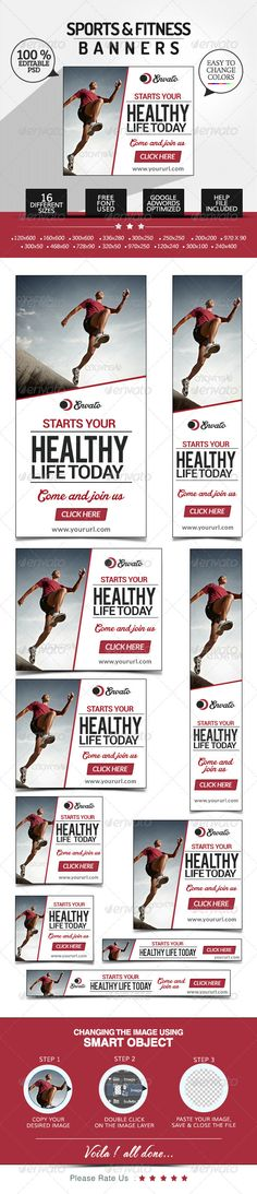 Fitness & Sports Banners Template PSD | Buy and Download: http://graphicriver.net/item/fitness-sports-banners/7641638?WT.ac=category_thumb&WT.z_author=BannerDesignCo&ref=ksioks