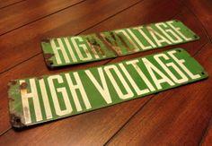 Vintage Depression Era High Voltage Industrial by JsWorldOfWonder, $60.00