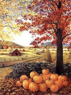 autumn scenes Autumn Splendor by Glynda Turley: This Autumn Splendor Fine Art Print and related works can be found at . Autumn Painting, Autumn Art, Fall Paintings, Halloween Art, Vintage Halloween, Imagen Natural, Autumn Scenes, The Great Gatsby, Fall Pictures