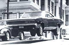 """1968 Charger in """"BULLITT""""   One of your father's favorites and very famous car chase scenes."""