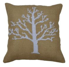 Scandinavian Snow Tree - Pdf pattern for cross stitch cushion. $5.00, via Etsy.