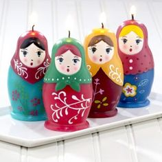 Russian Doll Candles, Set of 4 review at Kaboodle