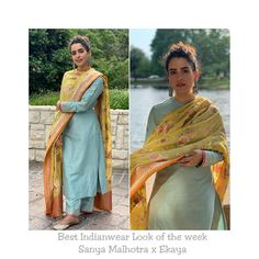 My Style round up of the week: Best Dressed : Kareena Kapoor Khan in Tadashi Shoji Best Airport Look : Alia Bhatt in Topshop… Salwar Designs, Plain Kurti Designs, Silk Kurti Designs, Kurta Designs Women, Kurti Designs Party Wear, Blouse Designs, Dress Indian Style, Indian Dresses, Indian Outfits
